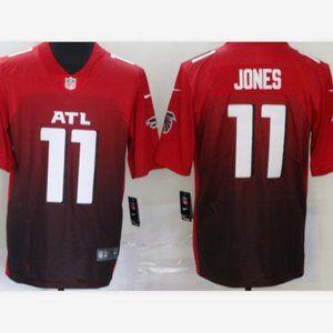 Men Falcons Julio Jones Red Jersey